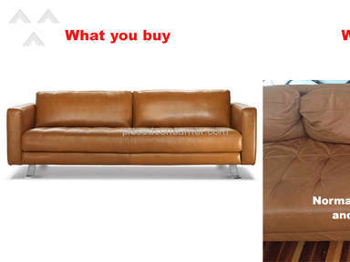 Freedom Furniture - Couch became ugly very quickly. Not what I was sold!
