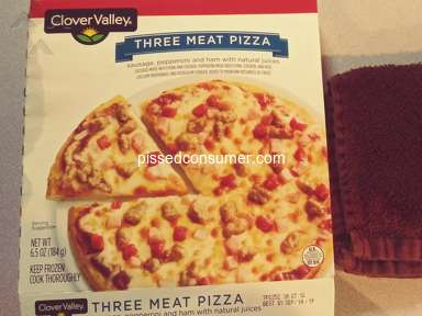 Clover Valley Three Meat Pizza review 368072