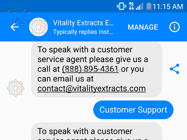 Vitality Extracts - Terrible customer service!