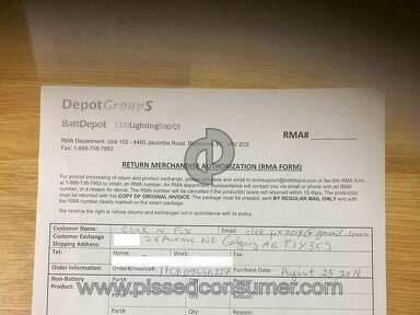 BattDepot Customer Care review 349308