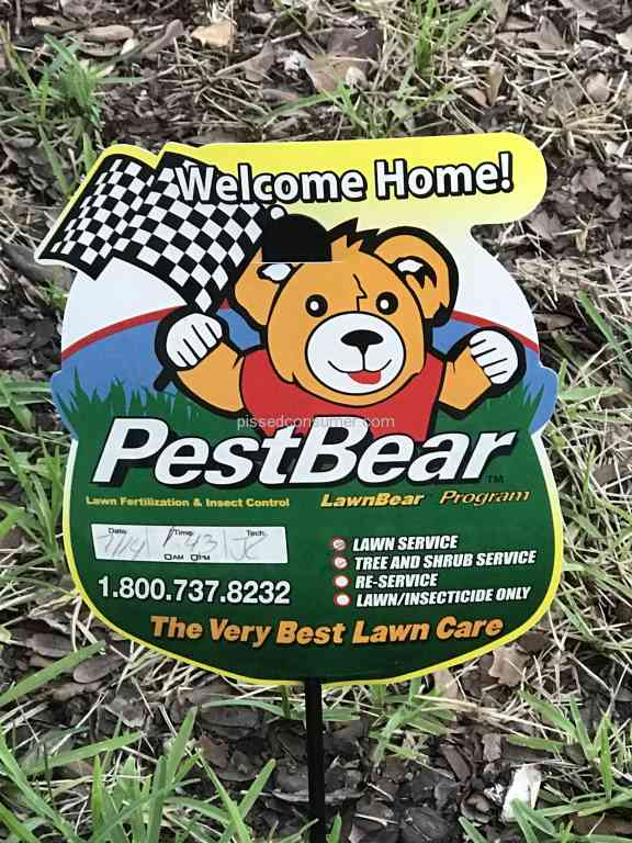26 pestbear reviews and complaints pissed consumer for Lawn treatment companies