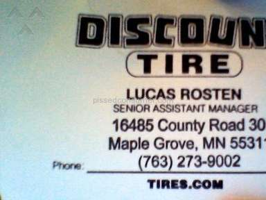 Discount Tire - Blatant lies to make a sale