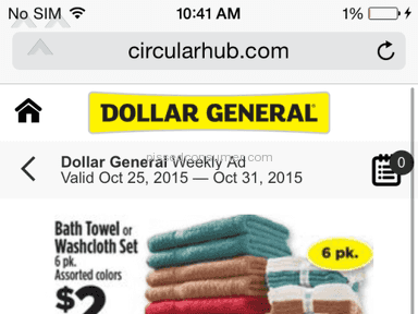 Dollar General Corporation - False Advertisement $2 Bath Towels