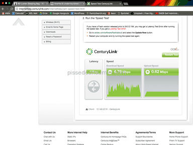 "Centurylink - Poorest Customer ""Service"", Most Unreliable Internet Speeds"