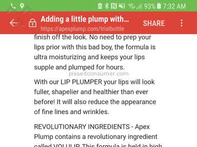 Apex Vitality Lip Plumper Free Trial review 257570