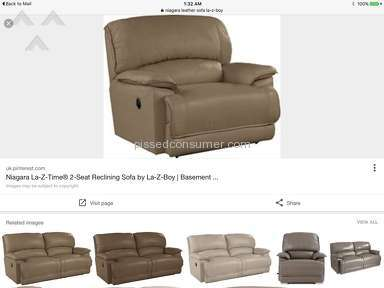 Lazboy Niagara Leather Sofa review 155914