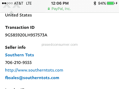 Southern Tots - Shipping Service Review