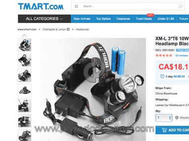 Tmart Xml 3T6 Headlamp review 199224