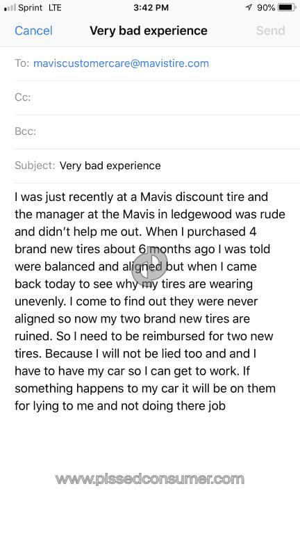 20 Mavis Discount Tire Wheel Alignment Reviews And Complaints