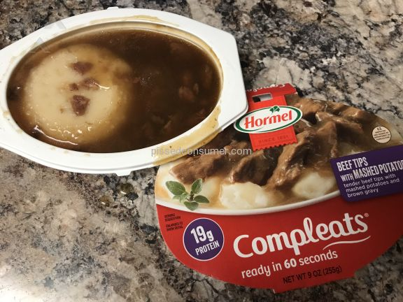 Hormel Foods Beef Tips And Gravy With Mashed Potatoes Frozen Meal