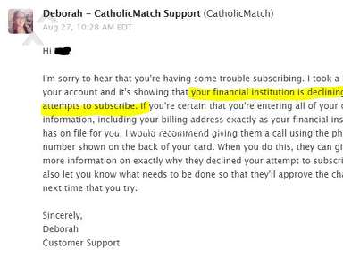 Catholic Match - No response