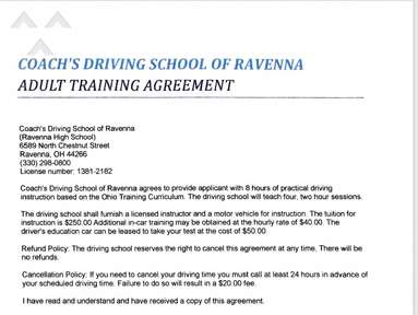 Coachs Driving School of Ravenna - Dead End Driving