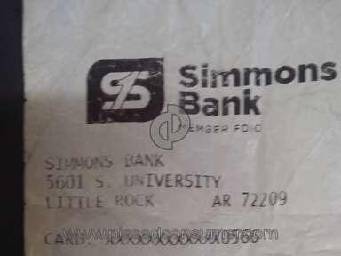 Skylight Visa - I went to Simmons Bank 5601 S.University  Little Rock At 722