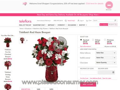 Teleflora Red Haute Bouquet review 263774