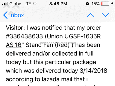 Lazada Philippines Shipping Service review 276940