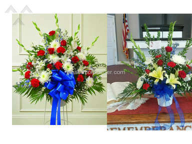 Avasflowers Red White And Blue Sympathy Arrangement review 187138