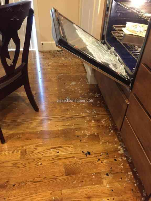 Kitchenaid Oven Door Exploded Jan 13 2016 Pissed Consumer