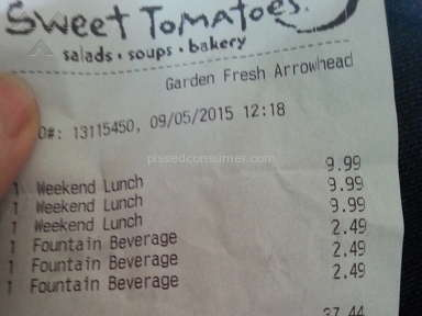 Sweet Tomatoes Weekend Lunch Review from Glendale, Arizona