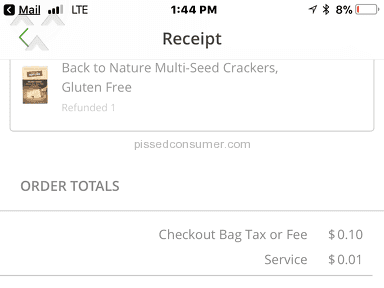 Instacart - Don't waste your time. Use a different service