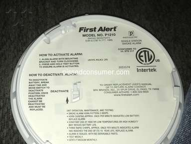 First Alert - Smoke Detector Fail!