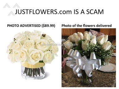 Justflowers - BEWARE: THIS COMPANY IS A SCAM