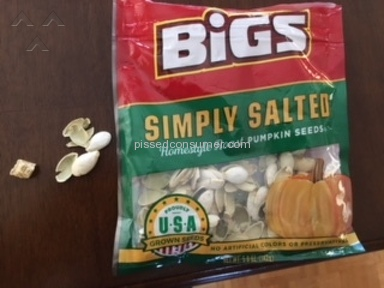 Bigs Seeds - Simply dissappointed with Simply Salted