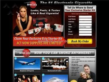 Direct E Cig - Fraud, deliberate intent to mislead the consumer.