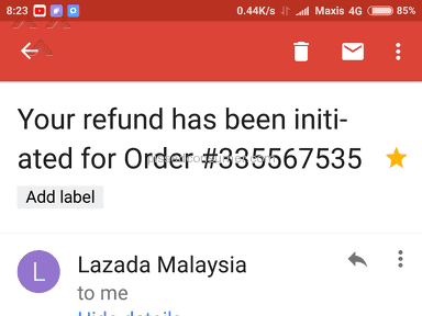 Lazada Malaysia Shipping Service review 231092