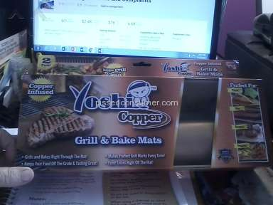 Idea Village As Seen On Tv Yoshi Copper Grill And Bake Mat review 213574