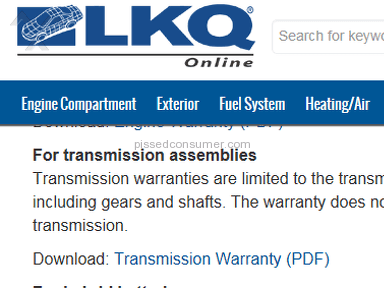 Lkq Corporation - Transmission Rip Off