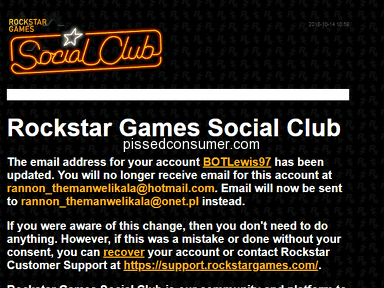 Rockstar Games - GTA 5 Online - Account got Hijacked