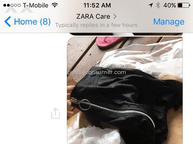 Zara Customer Care review 186926