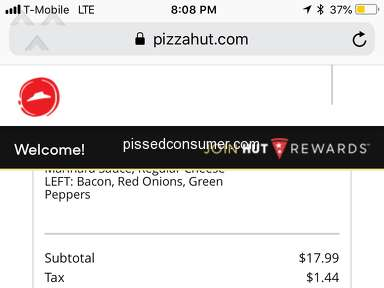 Pizza Hut - I have a complaint of terrible service