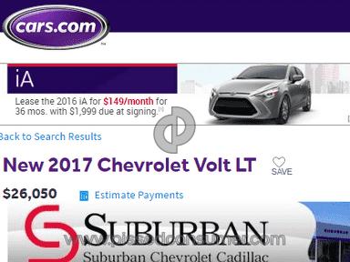 Suburban Chevrolet Cadillac Advertisement review 147946
