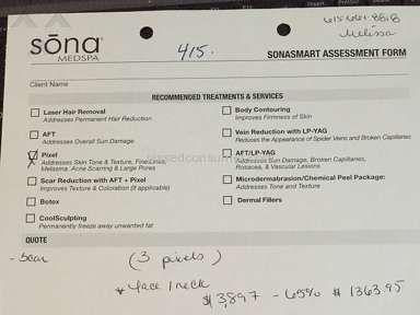 Sona Medspa - Scar removal didn't see results