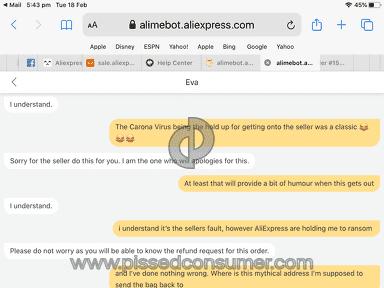 Aliexpress Claim review 521861
