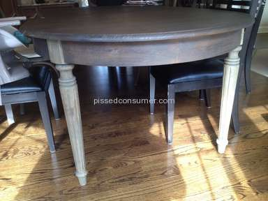 Restoration Hardware - Damaged table and repeat problems