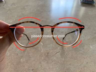 Zenni Optical - Poor quality control and refused a replacement