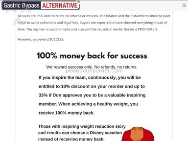 Total ripoff! Gastric Bypass Alternative NO Surgery & Don Karl Juravin