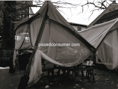 Sunjoy Industries - Collapsed Sunjoy Patio Gazebo - Don't Buy This Product