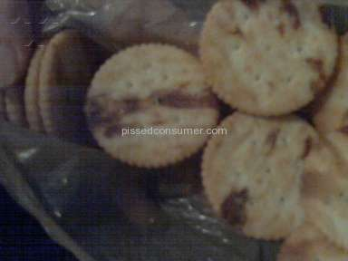 Ritz Crackers - Burnt crackers
