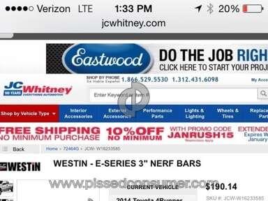 JC Whitney - Nerf Bars Review from Enterprise, Alabama