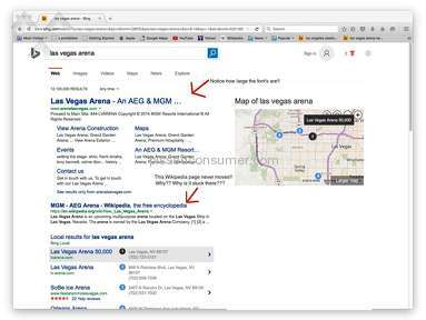 Bing - Bias to Larger Companies/Unfair Practice in Search Engine Results!!