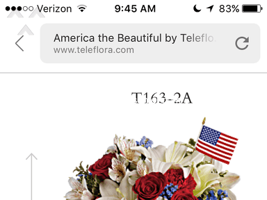 Teleflora - Bait and switch masters!