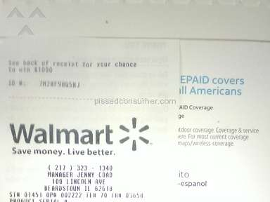 Walmart Customer Care review 275000