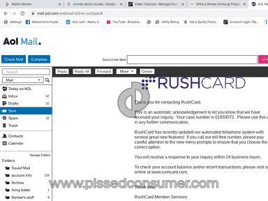 RushCard Debit Card review 542222