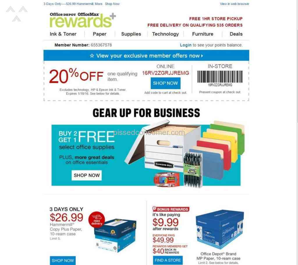 Office depot rewards coupons - Office Depot Computers Review 108379