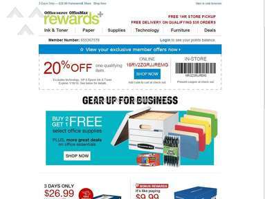 FRAUD BY OFFICE DEPOT USING EMAIL PROMOTION AND COUPONS
