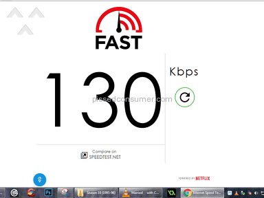 Verizon DSL 3mbps Guaranteed 1.5 (Lower than 56kpbs During Peak Hours
