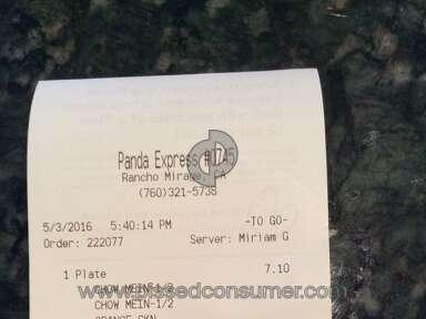 Panda Express Mushroom Chicken review 131013